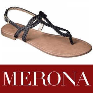 NWT: MERONA ESMA BRAIDED T-STRAP SANDAL